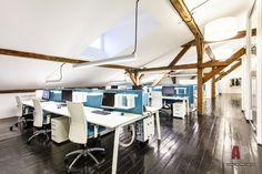 Фото интерьера рабочей зоны офиса в стиле лофт