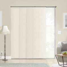 Chicology Adjustable Sliding Panels, Cut to Length Vertical Blinds, Abaca Alabaster(Privacy & Natural Woven) - Up to 80 inchW X 96 inchH, White Blinds For You, Blinds For Windows, House Blinds, Hidden Spaces, Buy Bamboo, Natural Weave, Sliding Panels, Bamboo Shades, Home Safes