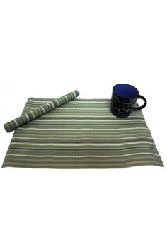 Green Stripes Placemats    Beautiful Green elegant and timeless, these Element coasters and table mats are perfect to make any meal special. They are sturdy enough to withstand everyday use.Easy to maintain, these coasters and table mats are just the right choice to invest in.