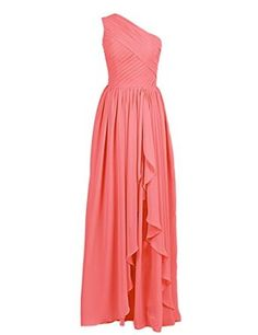 Dressystar High Low Bridesmaid Dresses One shoulder Formal Gowns 2015