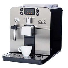 Gaggia Brera Super Automatic Espresso Machine in Black. Pannarello Wand Frothing for Latte and Cappuccino Drinks. Espresso from Pre-Ground or Whole Bean Coffee. - Kitchen and Home Products Library Cappuccino Maker, Espresso Maker, Espresso Coffee, Coffee Maker, Black Coffee, Decaf Coffee, Espresso Machine Reviews, Best Espresso Machine, Barista
