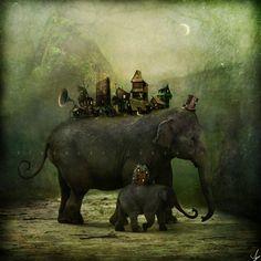 Шведский художник Александр Янссон создает красивые, гипнотические, поражающие ум иллюстрации.      У каждой его сцены присутствует изворотливая, ирреальная природа, в которой переплетаются сюжетные линии.