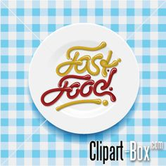 CLIPART FAST FOOD PLATE
