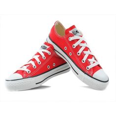 Converse Shoes Red Chuck Taylor All Star Classic Low....I need these with cuffed jeans and my Louisville gear