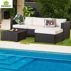 #Diensday #6 #Piece #Cushioned #Outdoor #Patio #PE #Rattan #Wicker #Sofa #Sectional #Furniture #Set #Lawn #Funiture 2017 New 5PCS #Outdoor #Wicker pattern #Furniture #Set with Beige cushions,Ideal for #patio, porch, poolside or garden. 180 Days Warranty. Slim low-profile updated cushions for an ultra modern look, removable and washable. Each strand of #wicker is meticulously handwoven and handcrafted.(Pillows not Included) https://homeandgarden.boutiquecloset.com/product/dien