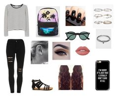 """""""Untitled #47"""" by miamariposa ❤ liked on Polyvore featuring MANGO, Vans, Ray-Ban, Boohoo, Full Tilt, Lime Crime and Casetify"""
