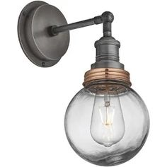 edison bulb industrial wall lamp - Google Search Outdoor Lighting, Sconces, Wall Lights, Industrial, Bulb, Interior Design, Google Search, Home Decor, Nest Design