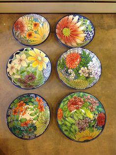 Damariscotta pottery large serving bowls