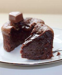 Delicious molten chocolate cake.