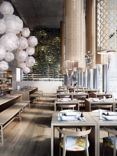 You'll be amazed by how realistic some rendering can be, especially when it comes to restaurant designs and interior architecture for potential clients. Design Hotel, Café Design, Bar Interior, Restaurant Interior Design, Modern Interior Design, Japanese Restaurant Design, Interior Office, Decoration Restaurant, Deco Restaurant