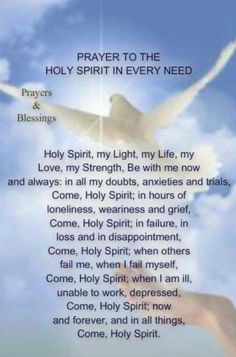 Pin on prayers Prayer Scriptures, Bible Prayers, Faith Prayer, Catholic Prayers, God Prayer, Prayer Quotes, Come Holy Spirit Prayer, Good Morning Prayer, Night Prayer