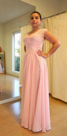 pink prom dresses, pink bridesmaid