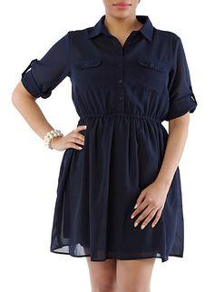 Plus-Size Shirt Dress