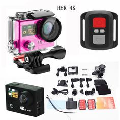 Hot sale full hd 1080p action camera with remote control dual screen night vision sport camera 30meters waterproof camcorder