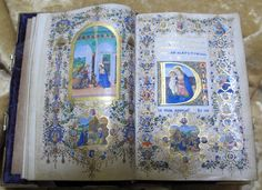 """""""The Book of Gold of Louisa de Medici"""" Illuminated by Francesco Rosselli and… Illuminated Letters, Illuminated Manuscript, Book Illustration, Illustrations, The Magic Faraway Tree, Biblical Art, Book Of Hours, Medieval Manuscript, Old Paper"""