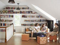 3 Ingenious Tips: Attic Nook Home Libraries tiny attic slanted walls.Attic Window Covering attic conversion how to. Attic House, Attic Closet, Attic Rooms, Attic Spaces, Attic Office, Attic Playroom, Attic Floor, Attic Wardrobe, Attic Library