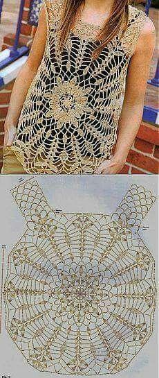 Fabulous Crochet a Little Black Crochet Dress Ideas. Georgeous Crochet a Little Black Crochet Dress Ideas. Débardeurs Au Crochet, Pull Crochet, Mode Crochet, Crochet Tunic, Crochet Diagram, Crochet Woman, Crochet Crafts, Crochet Clothes, Crochet Stitches