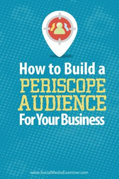 Are you marketing on Periscope? In this article, you'll discover how to build a Periscope audience for your business. Facebook Marketing, Business Marketing, Online Marketing, Social Media Marketing, Online Business, Mobile Marketing, Marketing Strategies, Marketing Ideas, Marketing Tools