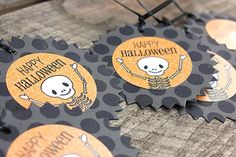 Happy Halloween Gift Tags (featuring a Mr. Bones freebie download) by Heather Nichols for Papertrey Ink (September 2012)