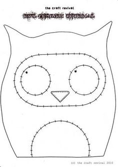 Free Felt Craft Patterns | Topic: Super Cute Owl Cushion + TUTORIAL! (Read 23546 times)