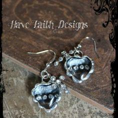 """Cross MY Heart"" earrings by Have Faith Designs"