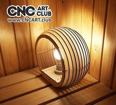 Wooden lamp plan for CNC and Laser cut #WoodenLamp
