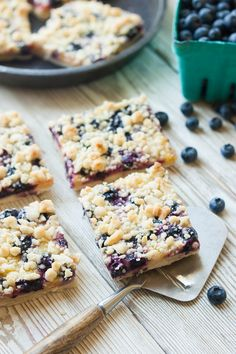 Blueberry Lemon Shortbread Crumble Bars - The Kitchen McCabe