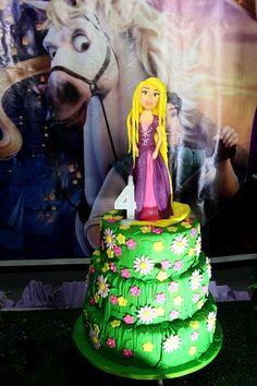 Tangled Rapunzel Cake Por Glacê Encantado bolos artísticos