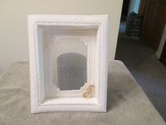 Shadow Box Photo Frame for Wedding in Plastic Canvas by CraftsforSalebyJune on Etsy