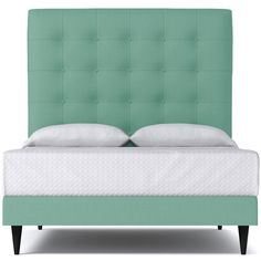 Apt2B Palmer Upholstered Bed From Kyle Schuneman Mint ($1,588) ❤ liked on Polyvore featuring home, furniture, beds, cal king bed, upholstered platform bed, upholstered bed, california king upholstered headboard and fabric headboard