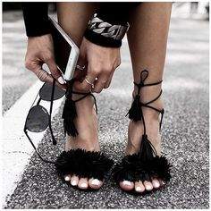 Women Shoes 2016 Fashion High Heels Sandals Shoes Women Pumps Tassel Lace up Sandalias Zapatos Mujer Wedding Shoes Sexy High Heels, Chloe Bag, Outfit Trends, Stiletto Pumps, Suede Pumps, Ballerinas, Summer Shoes, Summer Sandals, Sandals 2018