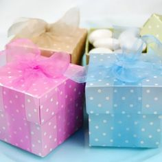 Favor Boxes - polka dots