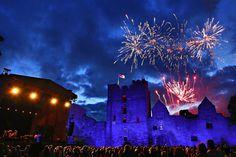 Fireworks over Ludlow Castle
