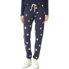 Splendid Ashbury Star Sweatpants ($128) ❤ liked on Polyvore featuring activewear, activewear pants, star sweatpants, splendid sweatpants, sweat pants, tapered sweat pants and elastic cuff sweatpants