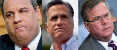 We know how excited you are to head to the polls and cast your vote for one of these three... GOP Elites: Let's nominate Christie, Bush, or Romney ...as quickly as possible!