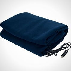 When the weather starts to get chilly, you'll be glad you bought this blanket that plugs into your 12 volt plug in your car.