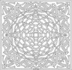 Celtic Star Mandala - free coloring page