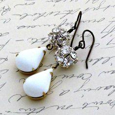 Rhinestone Ball Earrings