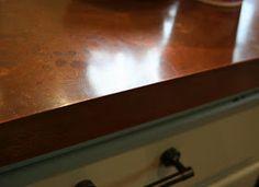 Lilliedale: DIY Copper Countertops I'm thinking of a copper island top :) Copper Countertops, Kitchen Countertops, Kitchen Redo, Kitchen Remodel, Kitchen Ideas, Kitchen Design, Kitchen Bars, Kitchen Inspiration, Kitchen Interior