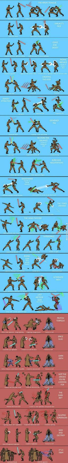 Lightsaber Techniques -- Let the Force flow through you.