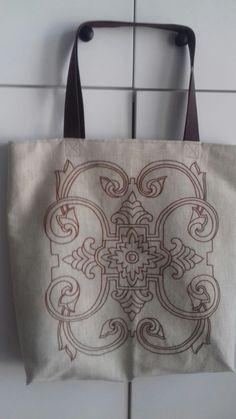 Płocienna haftowana torba Leather Backpack, Backpacks, Bags, Fashion, Handbags, Moda, Leather Backpacks, Fashion Styles, Backpack