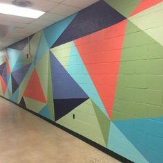 School nj school hallways, school murals, middle school libraries, middle s Middle School Libraries, Middle School Art, School Fun, High School, School Stuff, School Hallways, School Murals, Art Mural, Mural Painting