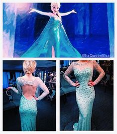 Elsa-inspired prom dress #frozen