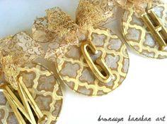 Initial Christmas Ornaments - Bronwyn Hanahan Art
