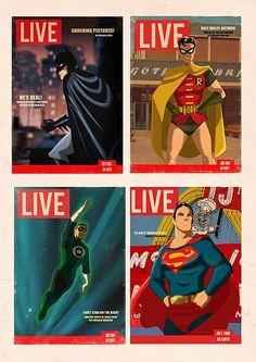 Des Taylor Evokes Golden Age Animation in Colorful Superhero Illustrations [Art]