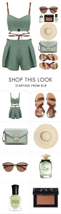 """hot outside"" by smillafrilla ❤ liked on Polyvore featuring Aéropostale, MANGO, Witchery, Dolce&Gabbana, Deborah Lippmann and NARS Cosmetics"