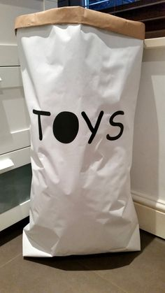 Toys Kraft Paper Bag. Check Out This Item In My Etsy Shop  Https://www.etsy.com/uk/listing/252427297/toys Personalised Toy Bag Storage  Bag