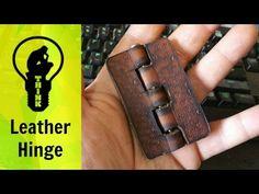 Making a leather hinge (4min)- YouTube