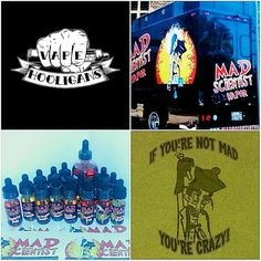 Mad Hooligans?  Sounds like a great giveaway!  We are stoked to bring you a Mad Scientist Vapor giveaway!  Grand prize is a full line of Mad Scientist plus a 120 of their most popular flavor, Swirly Pop and a Mad Scientist Shirt.  Runner up is a full line of Mad Scientist and a Mad Scientist Shirt.  Both will come with a good amount of slaps too!  Rules are simple:  1 post per account per day,  You must be following @vapehooligans and @madscientistvapor  Like, repost, and tag #madhooligans…