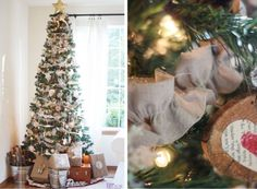 Christmas Tree Drop Cloth Ruffled Garland
